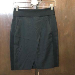 J.Crew Black Tuxedo Skirt - Size 2P